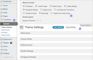 Options missing on Genesis Theme Settings page