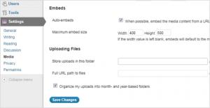 Change width of Youtube videos & flickr images in WordPress