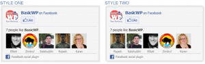 Change Facebook Like box border, background color styles