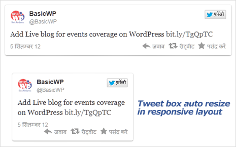 Auto resize Tweet embed in Responsive layout
