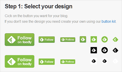 Select Feedly button style