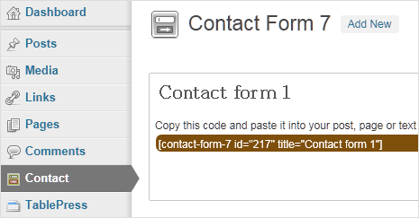 add contact form 7 plugin in wordpress