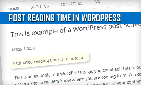 show post reading time in wordpress - list of plugins