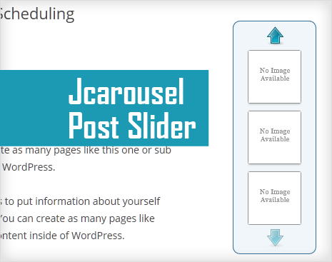 Jcarousel Post Slider for vertical slideshow in wordpress