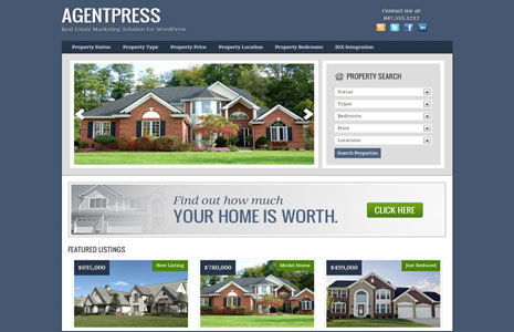 agentpress genesis child theme for real estate websites