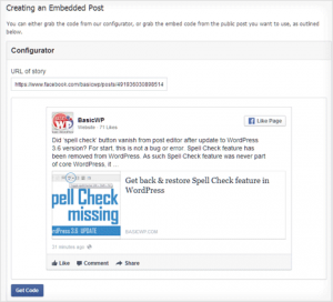 Embed & display Facebook posts in WordPress website