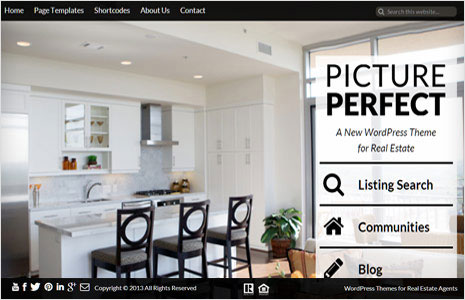 real estate wordpress themes with big background photos for genesis