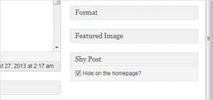 Hide specific post from Homepage loop of WordPress