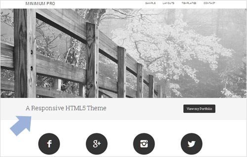 Minimum pro theme tagline area