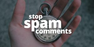Stop spam comments on WordPress website