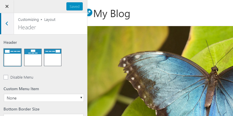 Customize Header layout & style in Astra WordPress Theme