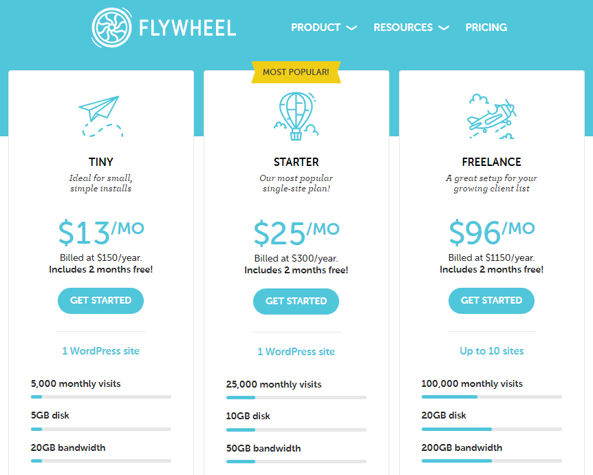 flywheel website hosting prices