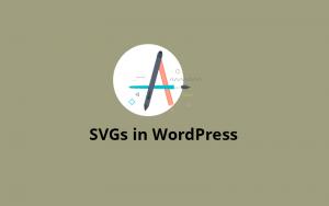 svg uploading on wordpress website