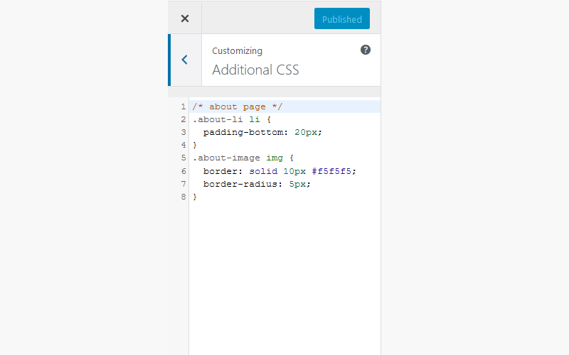 additional css code methods wordpress