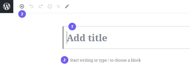 blocks editor main post contents
